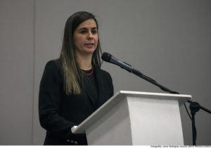 Nathalia Gómez, gerente general del CDR (Colombia) en las palabras de inauguración del Seminario.